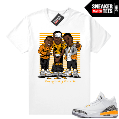 Jordan 3 Laser Orange Sneaker shirt