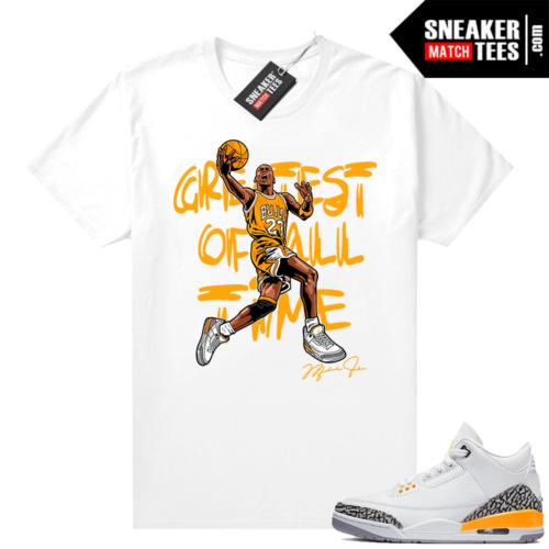 Laser Orange Jordan 3 shirts