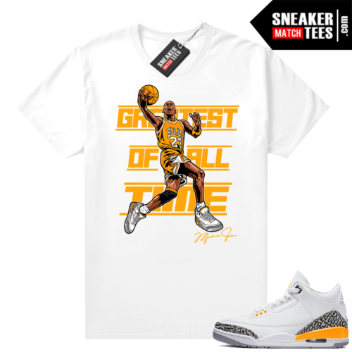 Air Jordan 3 shirts Laser Orange