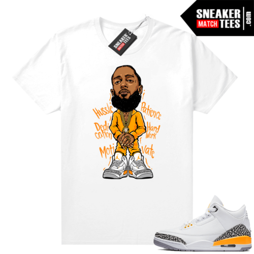 Jordan match shirts Laser Orange 3s