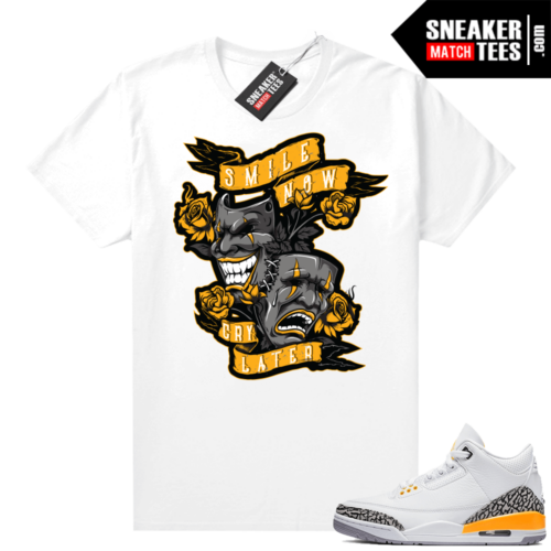 Laser Orange 3s sneaker tees shirts to match