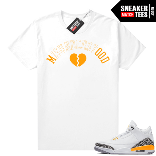 Sneaker shirts Laser Orange 3s