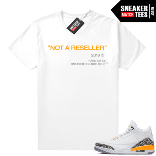 Sneaker tees Laser Orange 3s