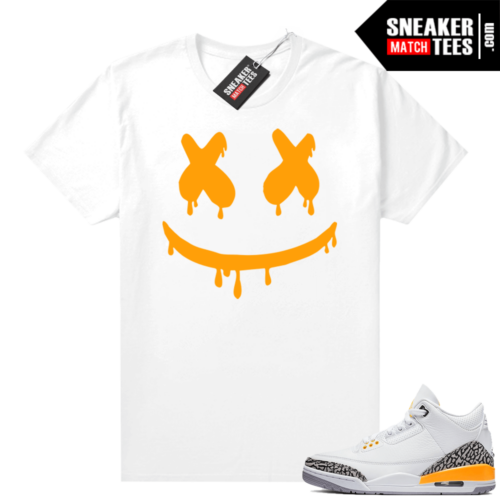 Laser Orange 3s sneaker tees