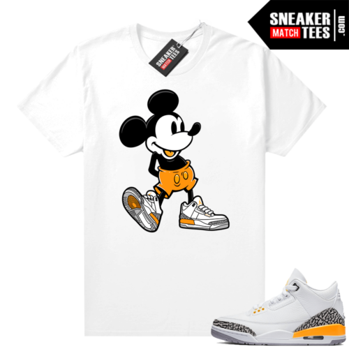Laser Orange 3s shirts to match sneakers