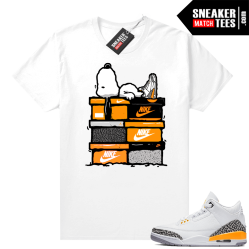 Laser Orange 3s sneaker shirts