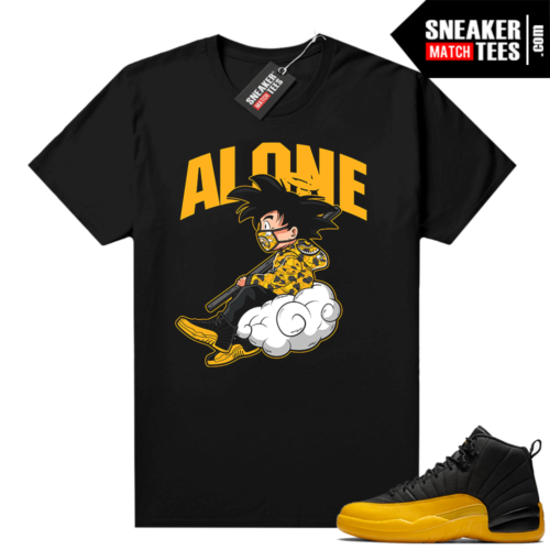 University Gold 12s shirt outfit