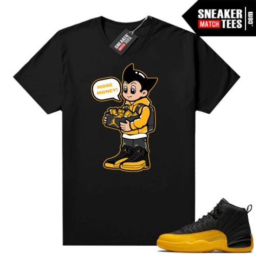 University Gold 12s sneaker tees Astro Boy More Shoe Money