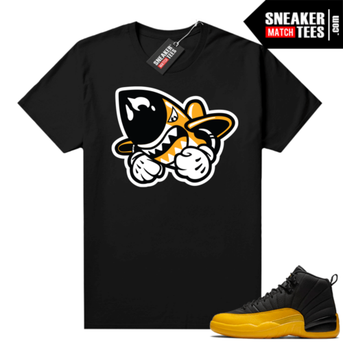 Gold Black Jordan 12 shirts