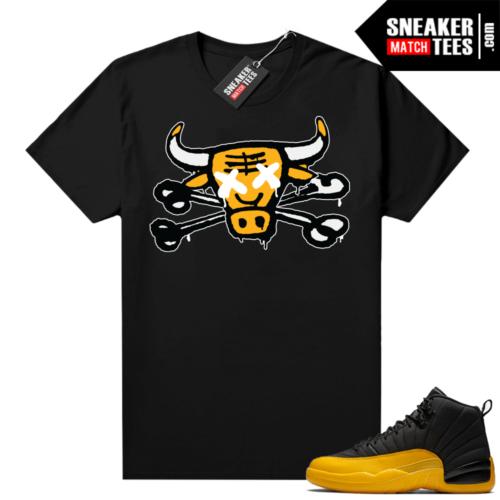 Gold Black 12s matching shirts