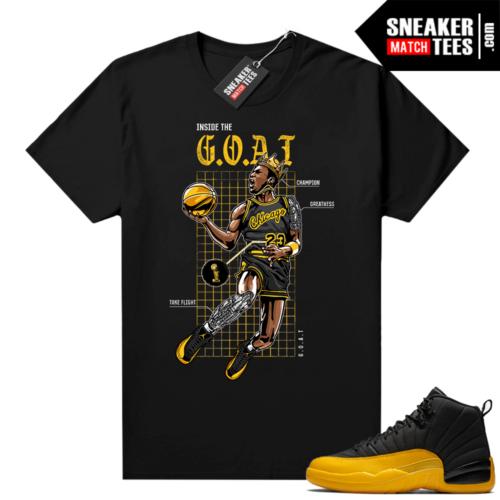 Shirts to match Jordans 12 University Gold