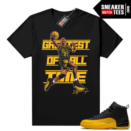 Air Jordan 12 sneaker tees University Gold