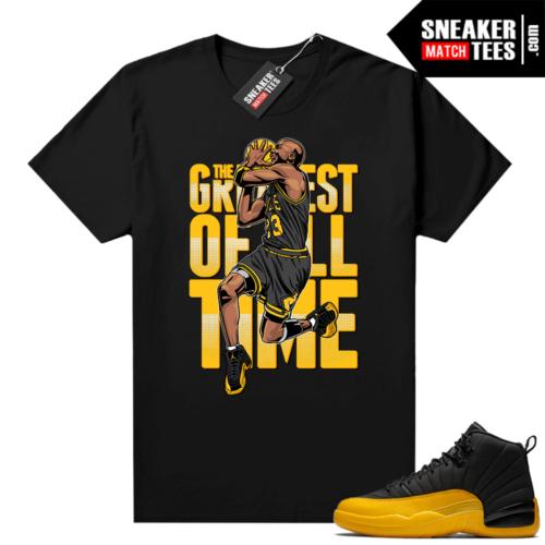 Air Jordan University Gold 12s shirts