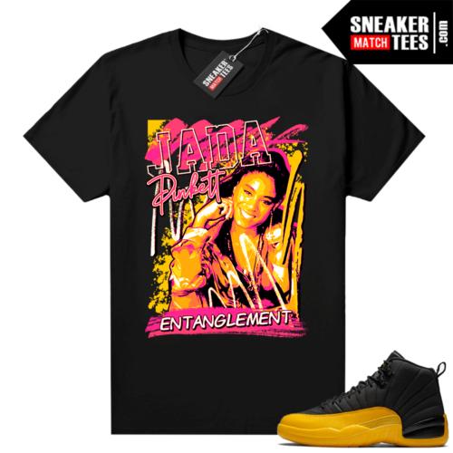Air Jordan University Gold 12s sneaker shirts