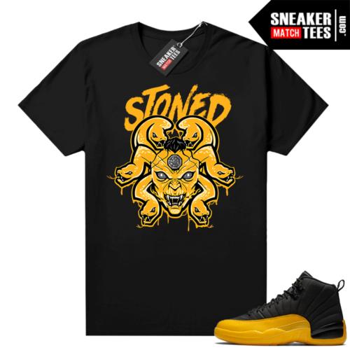 University Gold 12s sneaker tees Medusa