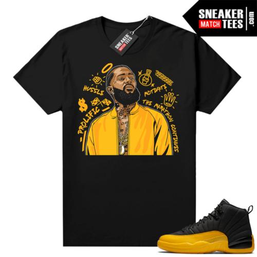 Sneaker shirts University Gold 12s