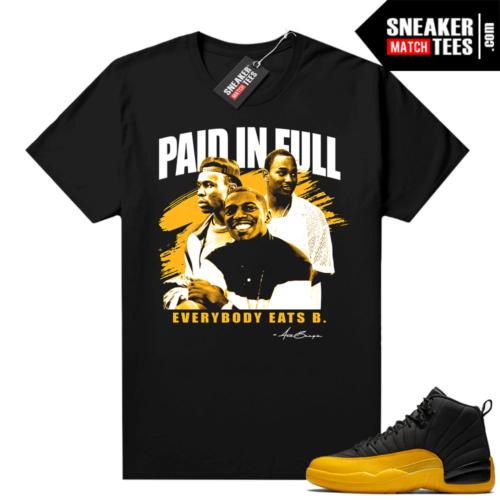 Sneaker shirts Jordan 12 University Gold