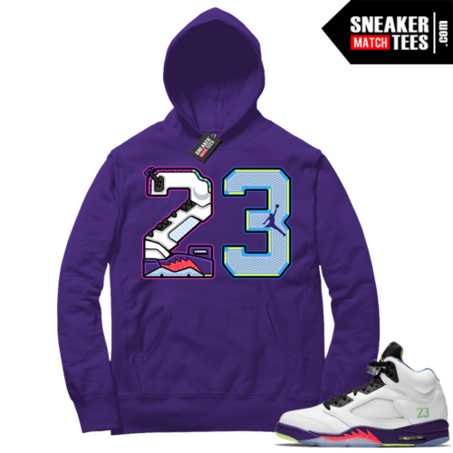 Alternate Bel Air 5s sneaker match Hoodies