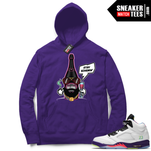 Alternate Bel Air 5s Hoodies to match sneakers