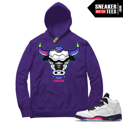 Alternate Bel Air 5s matching sneaker Hoodies