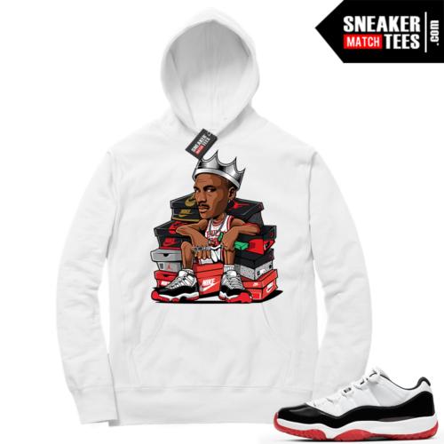 Sneaker Match Jordan 11 Low Concord Bred Hoodie