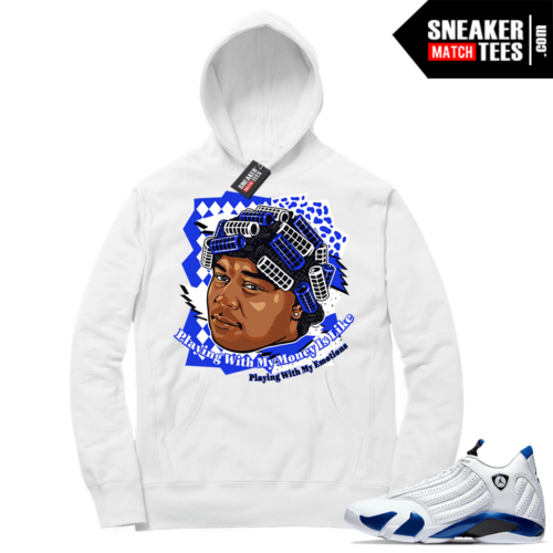 Hyper Royal 14s Match Hoodie Big Worm