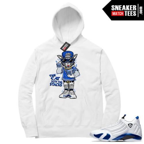 Hyper Royal 14s Match Hoodie Cat with the Stacks
