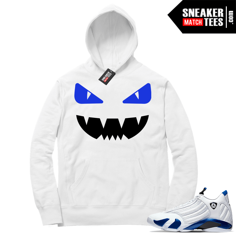 Hyper Royal 14s Match Hoodie Designer Monster