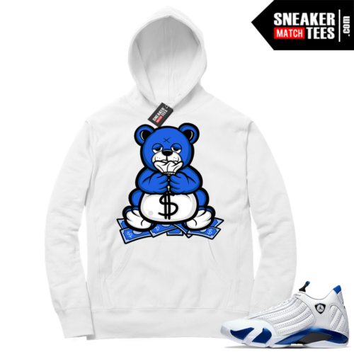 Hyper Royal 14s Match Hoodie Money Bag Bear