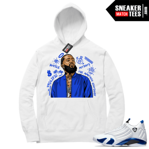 Hyper Royal 14s Match Hoodie Nipsey Tribute