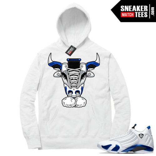 Hyper Royal 14s Match Hoodie Retro Bull 14