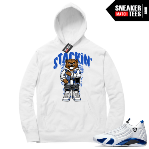 Hyper Royal 14s Match Hoodie Stackin Grizzly
