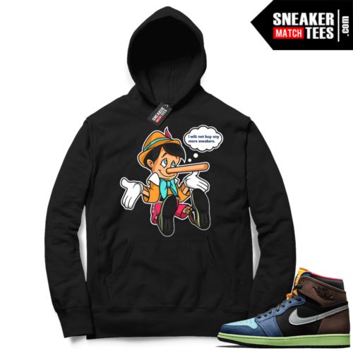 Jordan 1 Biohack Hoodie black No More Sneakers