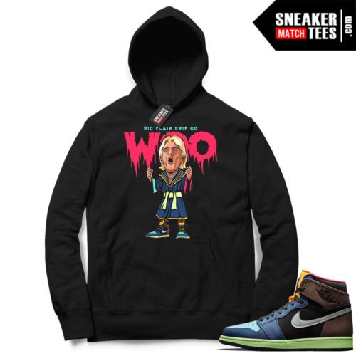Jordan 1 Biohack Hoodie black Ric Flair Drip
