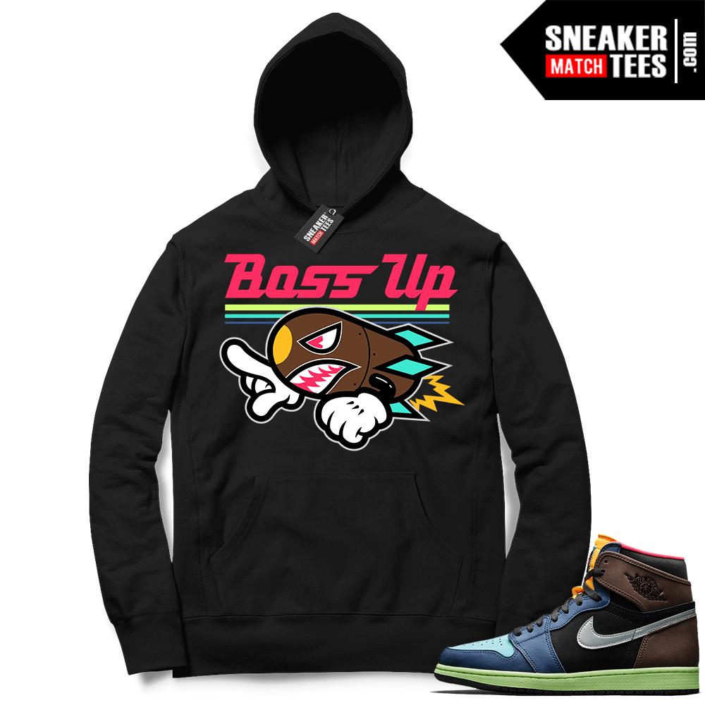 Jordan 1 Biohack sneaker Hoodie black Boss Up