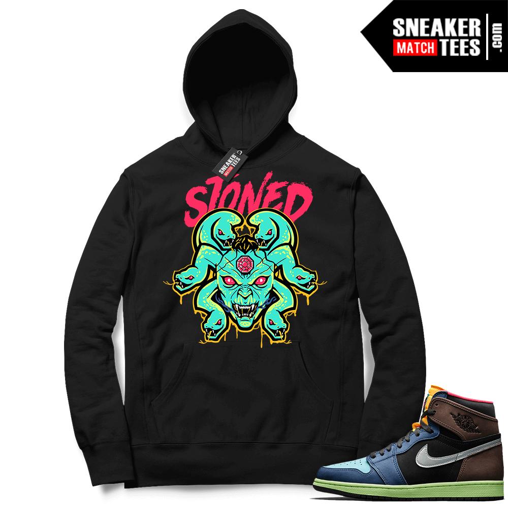 Jordan 1 Biohack sneaker Hoodie black Medusa