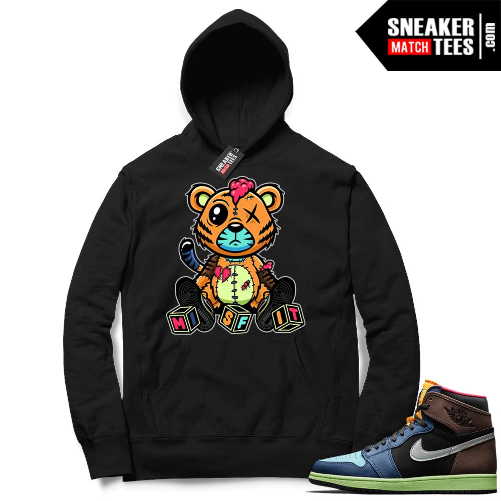 Jordan 1 Biohack sneaker Hoodie black Misfit Tiger ™