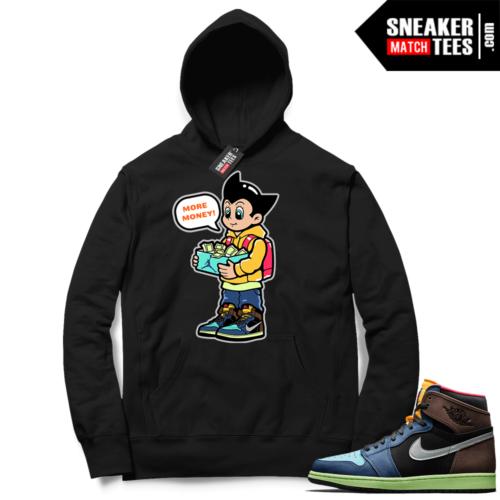 Jordan 1 Biohack sneaker Hoodie black More Shoe Money