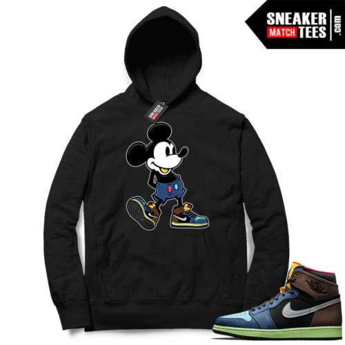 Jordan 1 Biohack sneaker Hoodie black Sneakerhead Mickey