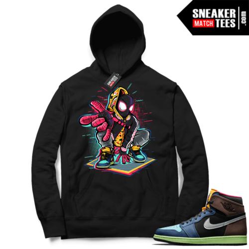 Jordan 1 Biohack sneaker Hoodie black Spidey-Verse