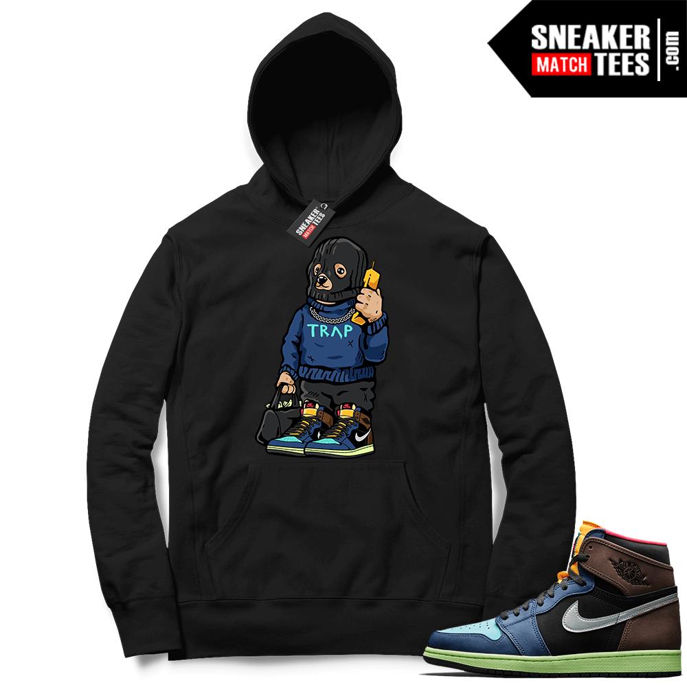 Jordan 1 Biohack sneaker Hoodie black Trap Bear