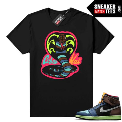 Jordan 1 Biohack sneaker tees shirts black Cobra Kai