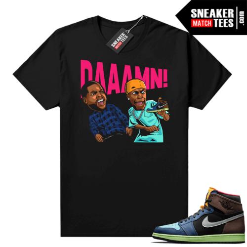 Jordan 1 Biohack sneaker tees shirts DAAAMN