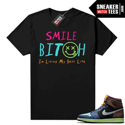Jordan 1 Biohack sneaker match tees