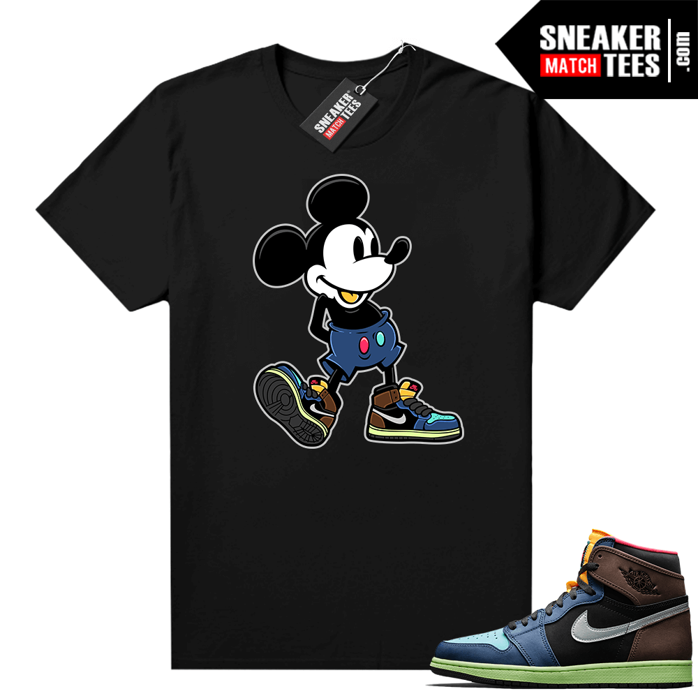 Jordan 1 Biohack sneaker tees shirts Sneakerhead Mickey