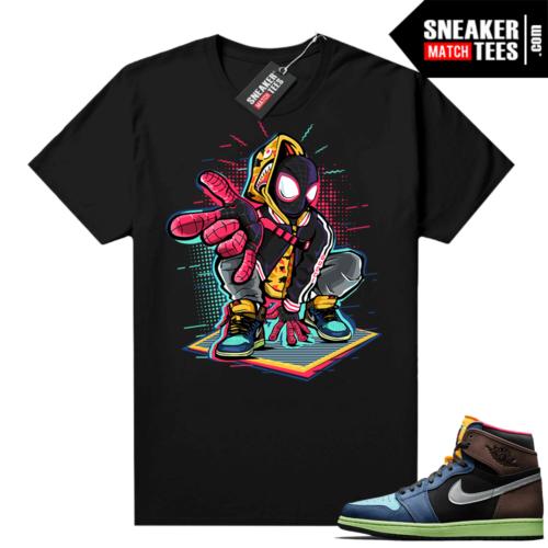Jordan 1 Biohack sneaker tees shirts Spidey-Verse