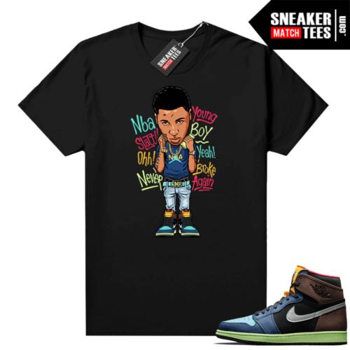 Jordan 1 Biohack sneaker tees shirts Youngboy NBA toon