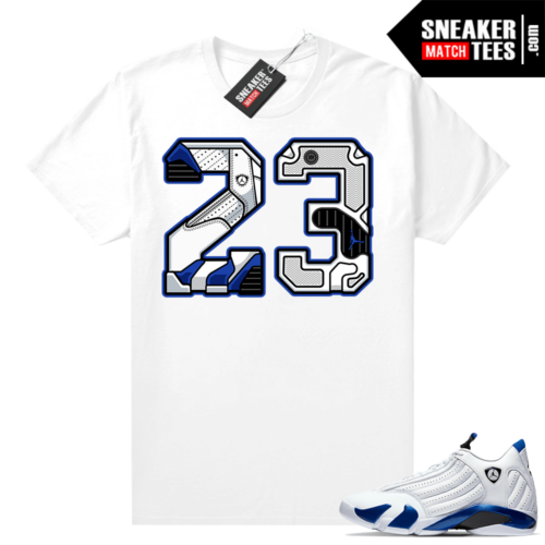 Hyper Royal 14s matching sneaker tees