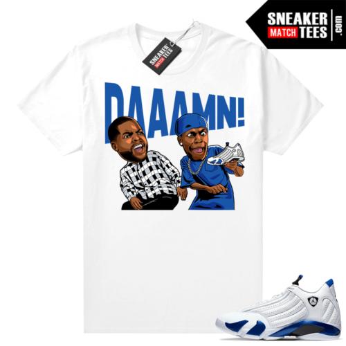 Hyper Royal 14s shirts to match sneakers