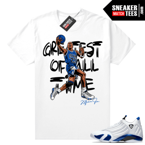 Jordan match tees Hyper Royal 12s